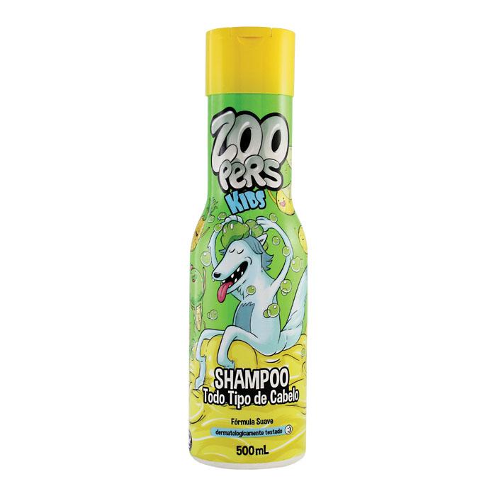 shampoo kids todo tipo de cabelo zoopers - 500ml