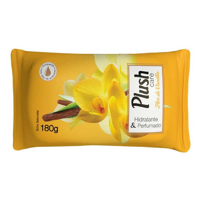 sabonete em barra plush care flor de vanilla 180g
