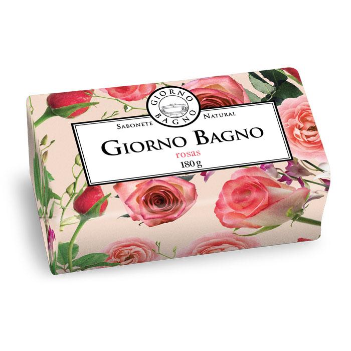 sabonete em barra giorno bagno rosas da bulgária 180g