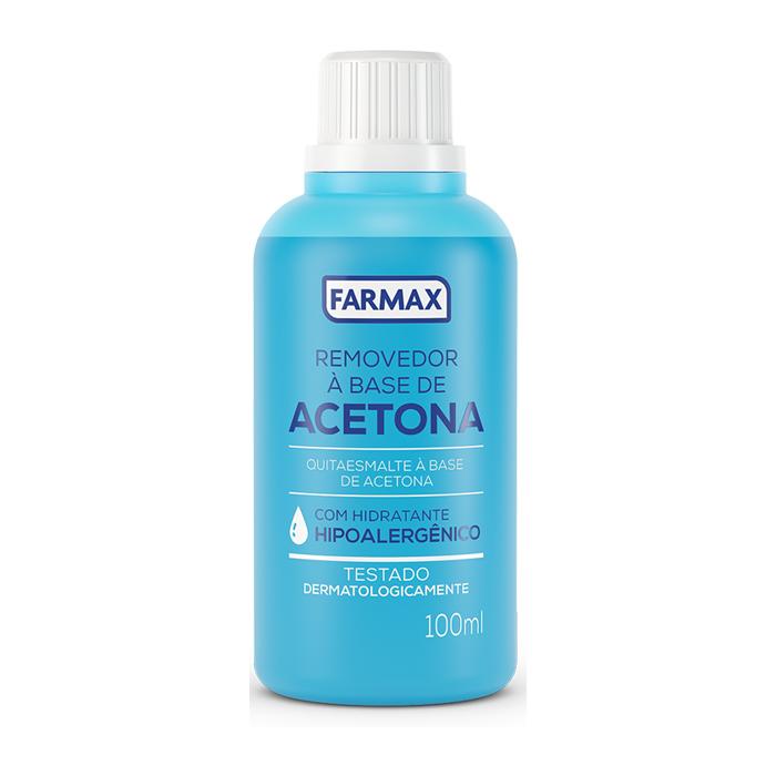 acetona 100ml farmax com 12 unidades