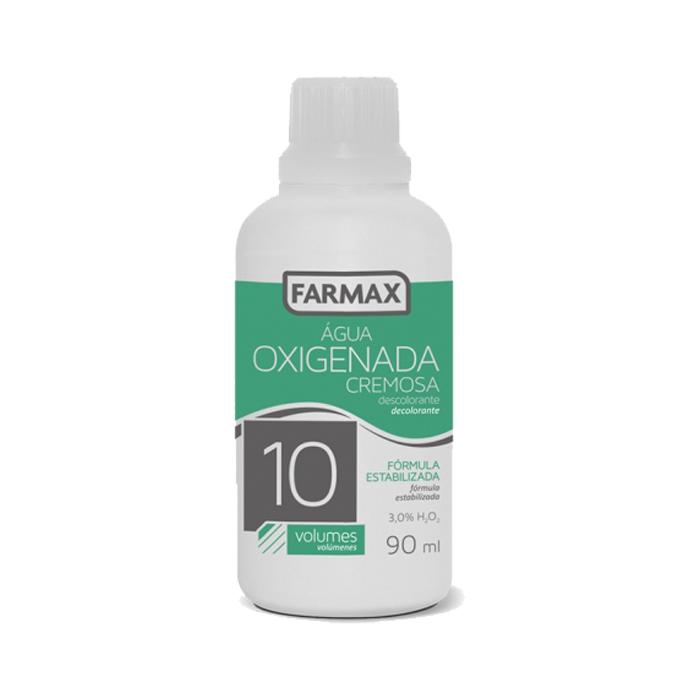 agua oxigenada cremosa farmax 10 volumes 90ml