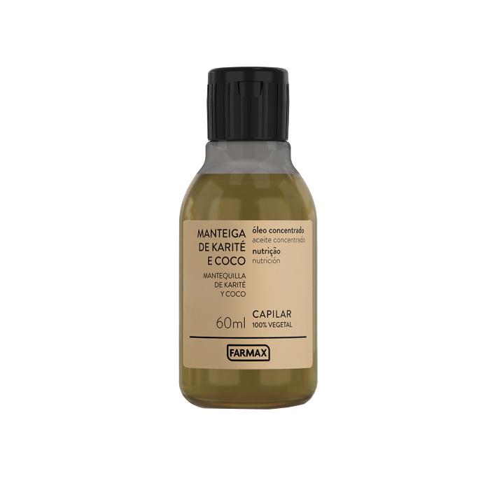 oleo capilar farmax concentrado karite e coco 60ml