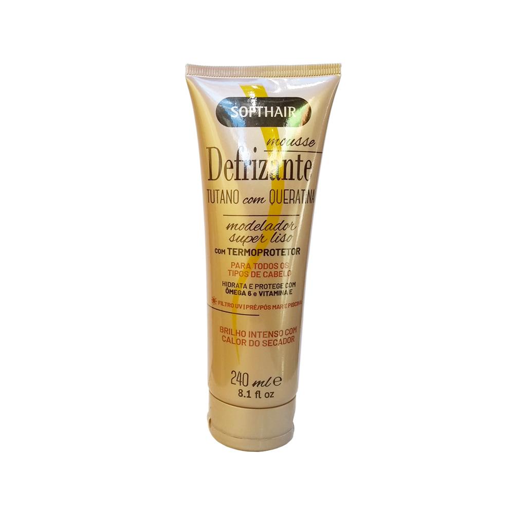 defrizante softhair mousse tutano e queratina 240ml un