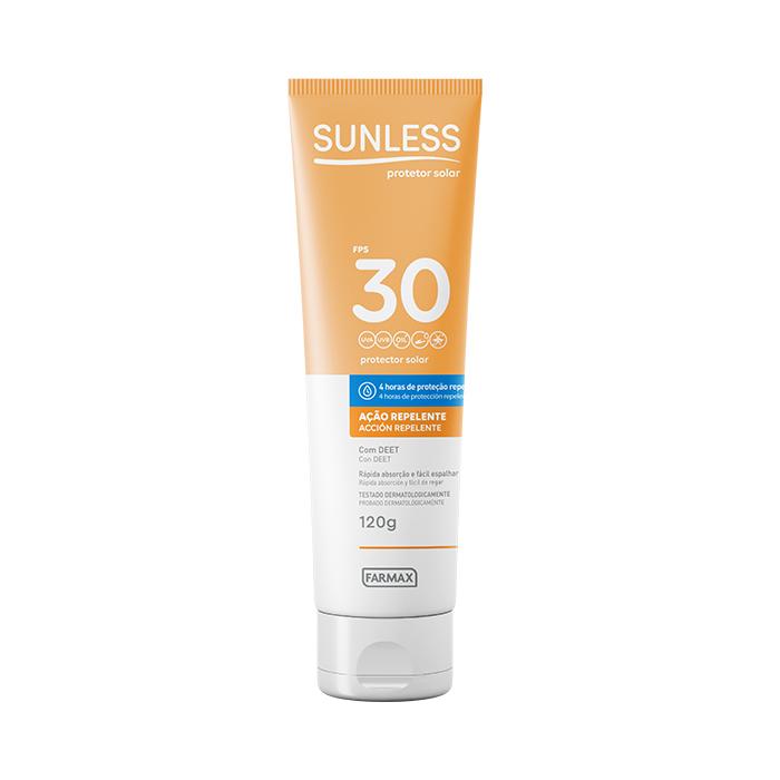 protetor solar com repelente fps30 sunless 120g