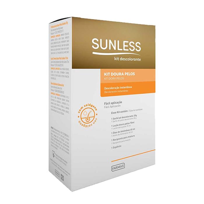 kit doura pelos com oleo de amendoas sunless