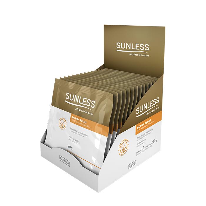 po descolorante doura pelos sunless caixa com 12 unidades de 20g