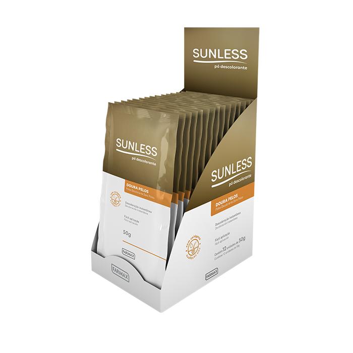 po descolorante doura pelos sunless caixa com 12 unidades de 50g