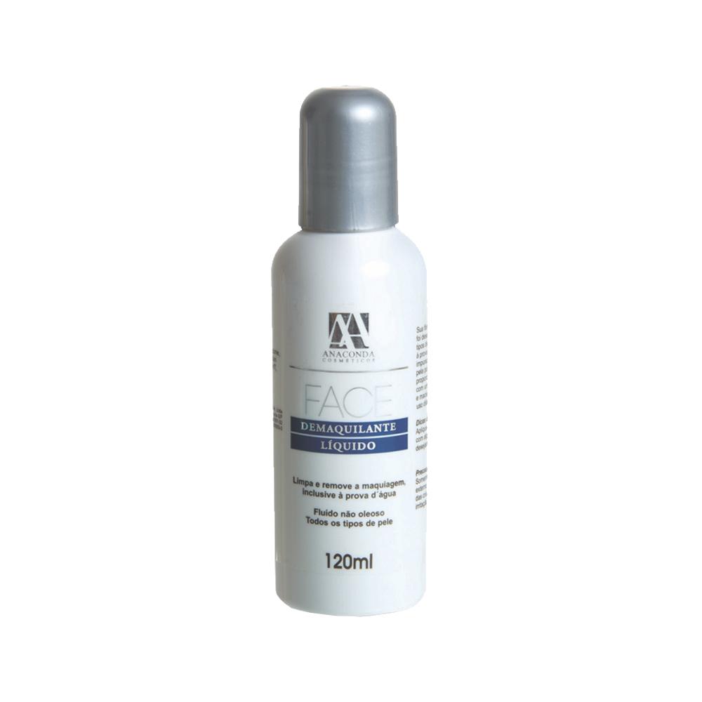 demaquilante líquido limpa e remove - anaconda 120ml