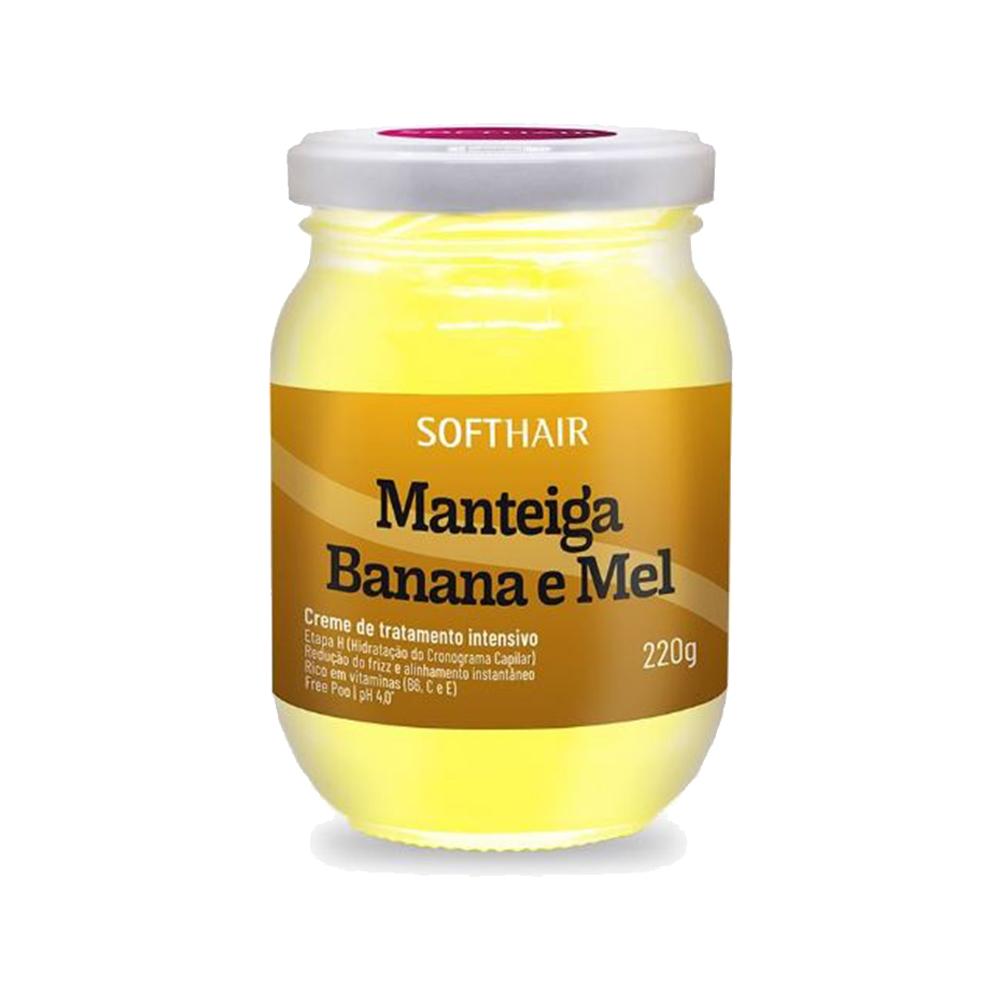 manteiga softhair banana e mel 220g un