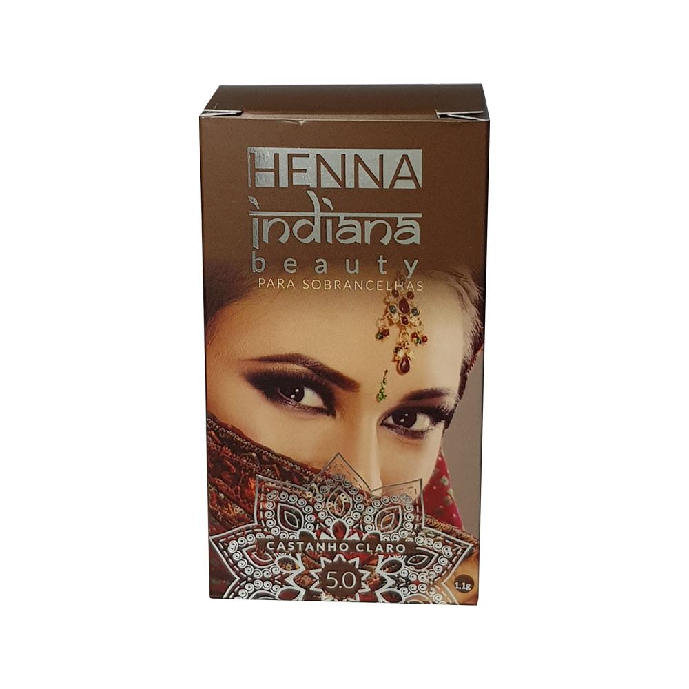 henna indiana beauty para sobrancelhas castanho claro 1.1g