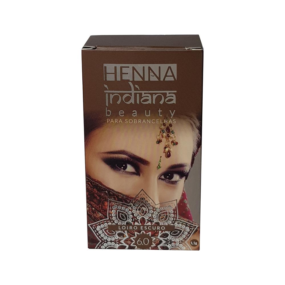 henna indiana beauty para sobrancelha loiro escuro 1.1g